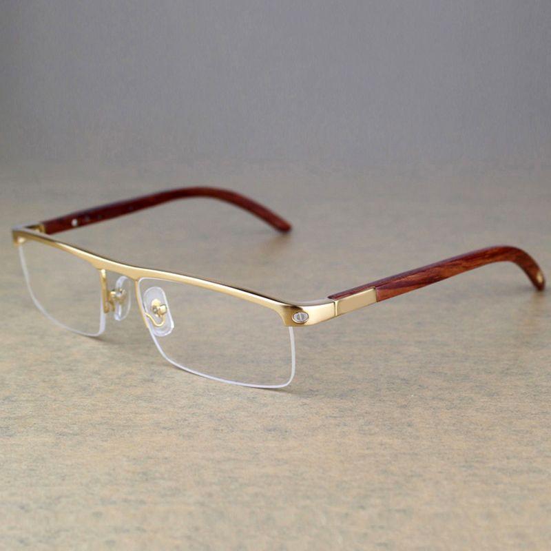 Vintage Wood Carter Glasses Men Designer brand wooden Eyeglasses frames men Women Eye glasses frame for men reading glasses 369