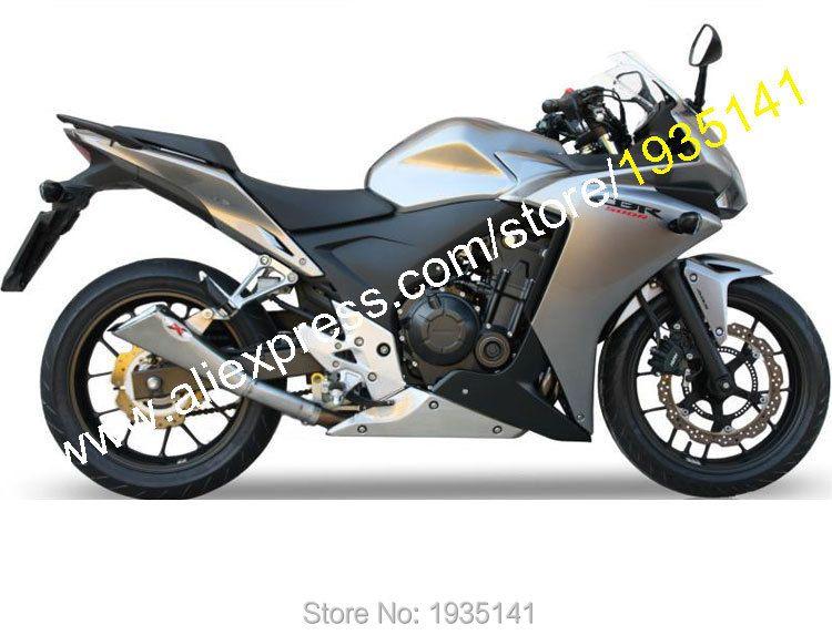 Heiße Verkäufe, besten Preis Für Honda CBR500R 2013 2014 CBR 500 R 13 14 CBR500 R Silber Bodyworks Sportbike Verkleidung (Injection molding)