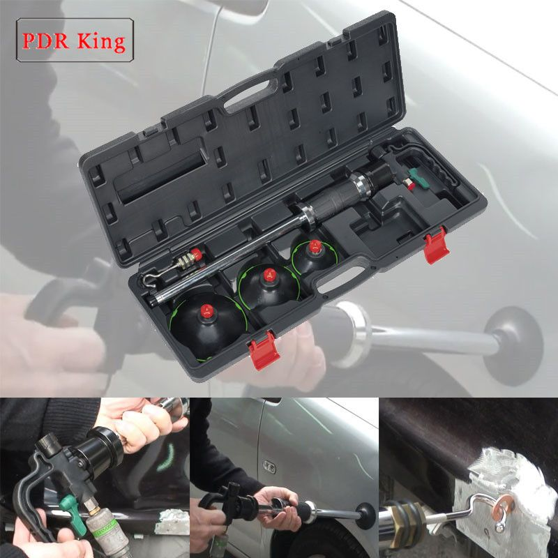 3 size Air Pneumatic Dent Puller Car Auto Body Repair Suction Cup Slide Hammer Tool Kit PDR KING suction cups