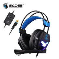 SADES Xpower плюс игровая гарнитура Gamer наушники стерео объемный звук 2-уровень вибрации светодио дный