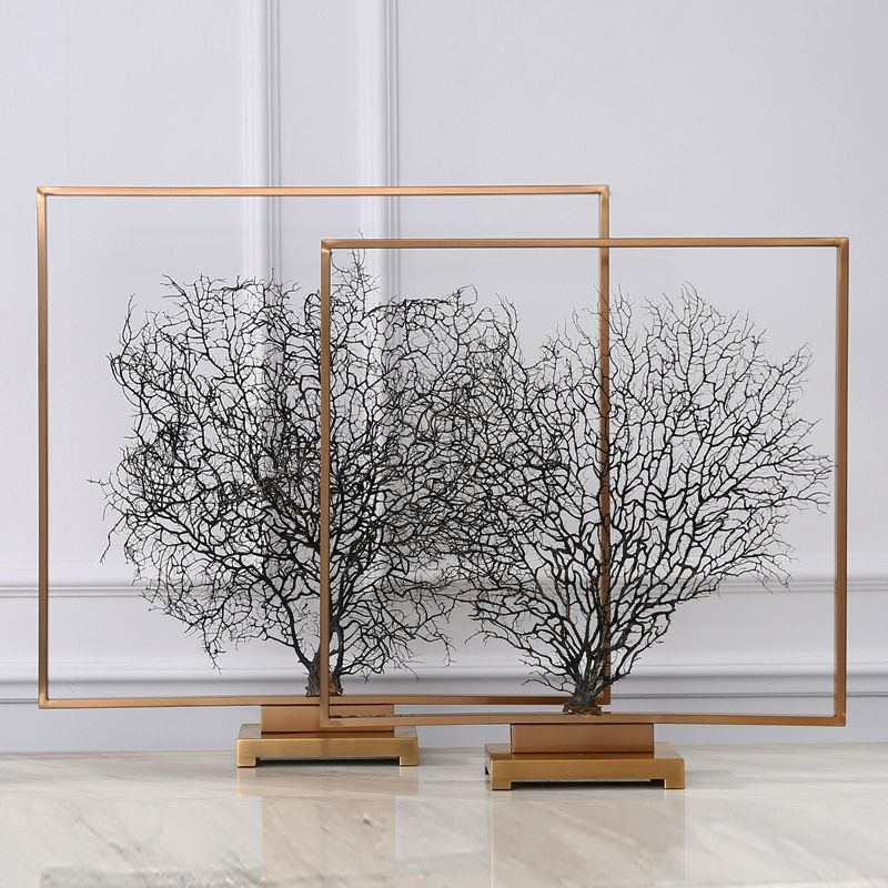 New Classical Living Room TV Cabinet Office Accessories Withered Branches Model Entrance Sea Tree Ornaments Home Decoration
