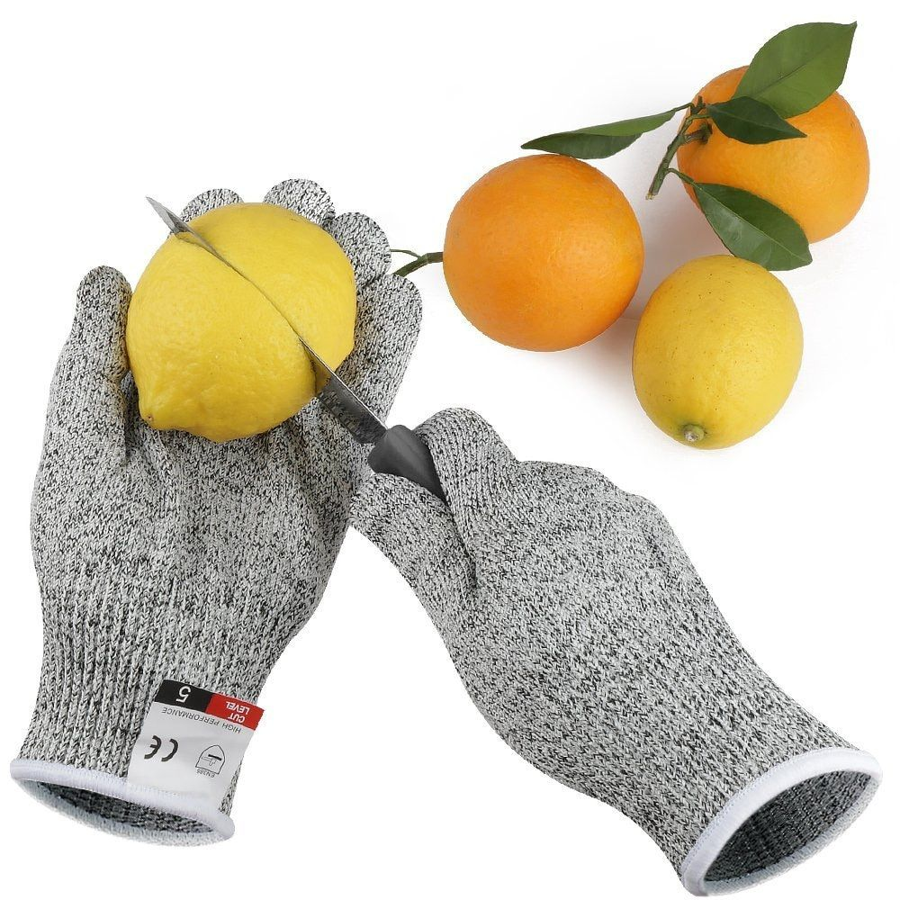 1Pair Cut Resistant Gloves Hppe Anti-Cut Glove Working Gloves Protective Finger Kitchen Men Wear-Resistant Safety Gloves S-Xl