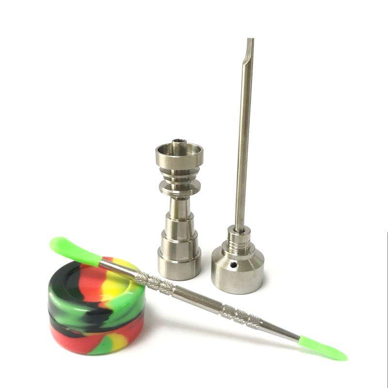Bong outil Set 10/14/18mm dômes Gr2 titane clou Carb bouchon Dabber dab plate-forme Silicone pot pour verre Bong fumer conduites d'eau 0C