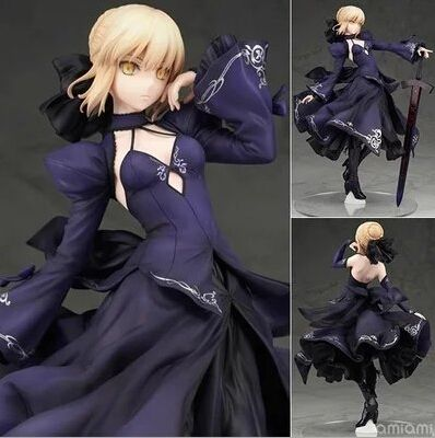 NEW hot 26 cm Fate Zero Fate Stay night noir saber Arturia Pendragon action figure collection jouets cadeau De Noël