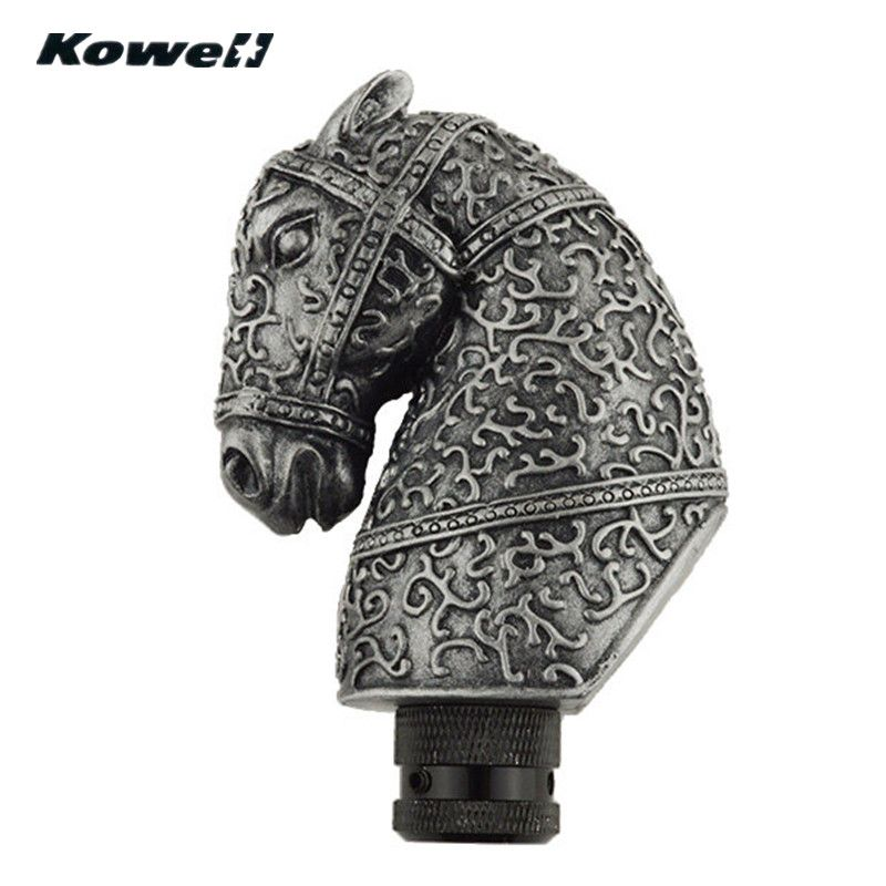 KOWELL Antique Chess Knight Horse Car Manual Transmission Gear Shift Knob Lever for Volkswagen VW Golf for Lada for KIA for Ford
