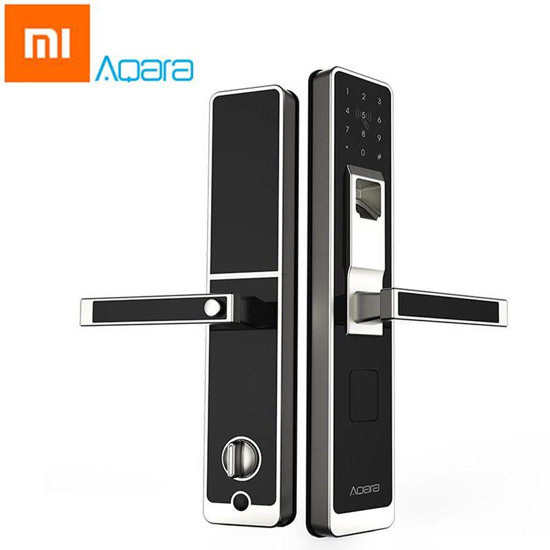D'origine Xiaomi Aqara Mijia Smart Porte Tactile Verrouillage ZigBee Sans Clé D'empreintes Digitales Mot de Passe 4in1 Mi Maison App Contrôle pour La Maison de Sécurité