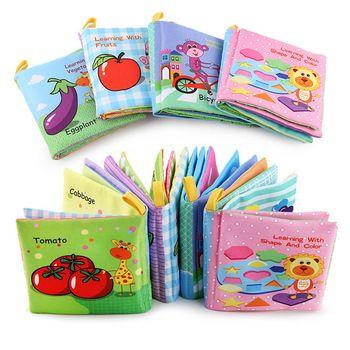 Детские погремушки в кроватку мобильные телефоны игрушка мягкая книга из ткани о животных шуршать звук коляска для новорожденных Висячие ...