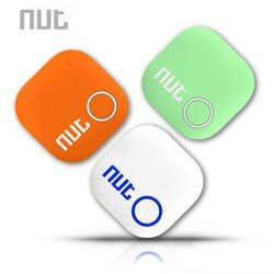 Nut 2 Smart Tag Bluetooth Tracker Anti-lost Pet Key Finder Alarm Locator Valuables as Gift For Child ( White/ Green/ Orange)