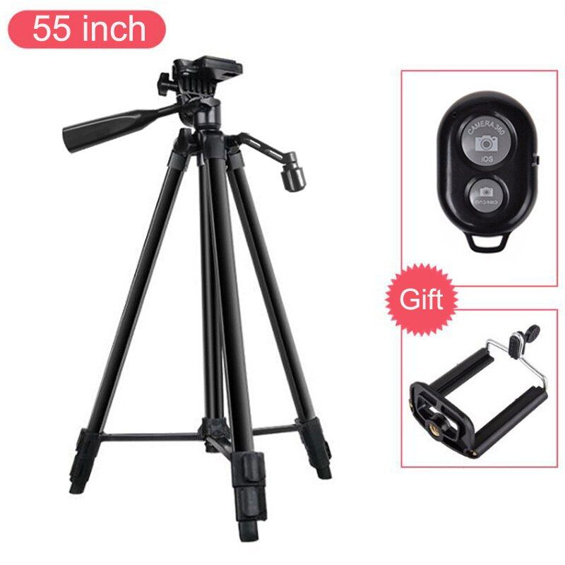 55 inch Phone Holder Mobile Phone Tripod Stand for iPhone X 8 7 6 6S Plus 5S for Samsung Xiaomi Huawei etc Cellphones