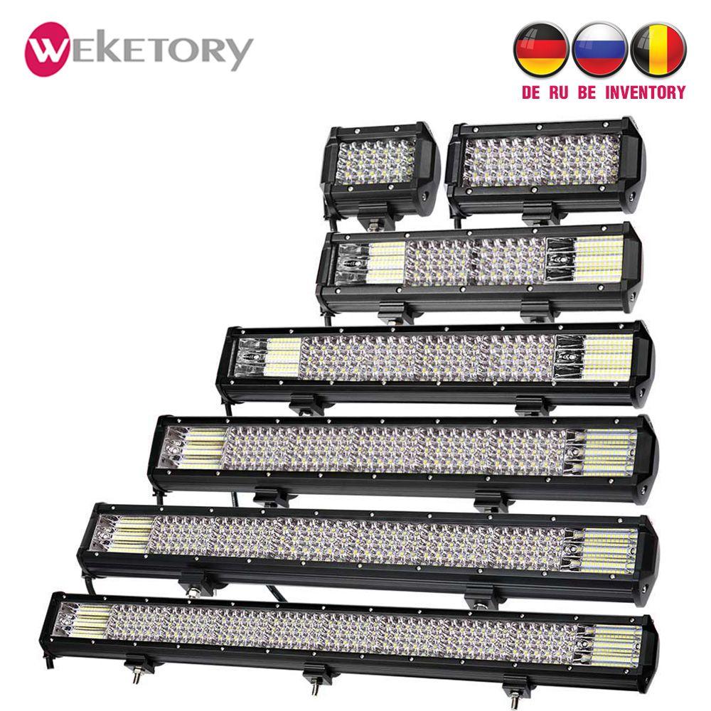 Weketory Quad Rangées 4-44 Pouces LED Bar LED Lumière Bar pour Voiture Tracteur Bateau OffRoad Hors Route 4WD 4x4 Camion SUV ATV Conduite 12 V 24 V