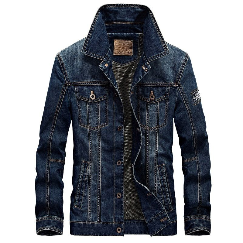 2018 New Spring & Autumn Denim Jacket Men Turn-Down Collar Fashion Slim Outerwear Jaquetas Masculino Jeans Jacket Plus size 4XL