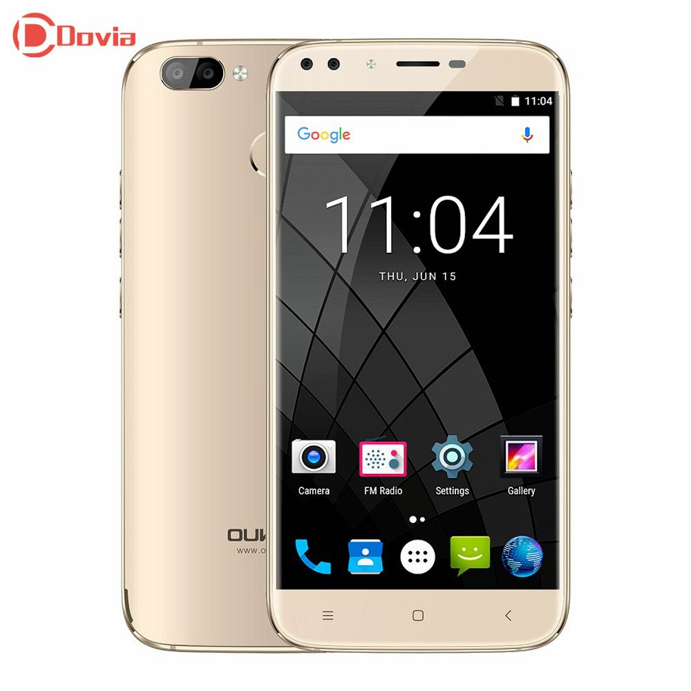 Oukitel U22 3G Smartphone 5.5 inch Android 7.0 Quad Core 2GB RAM 16GB ROM Fingerprint Sensor Dual Front Cameras Mobile Phone