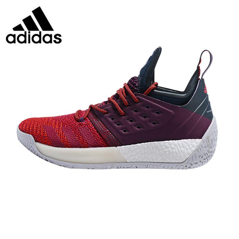 Adidas Harden Vol.2 Men Basketball Shoes, Red & Purple, Shock Absorbing Wear-resistant Breathable Lightweight AH2124