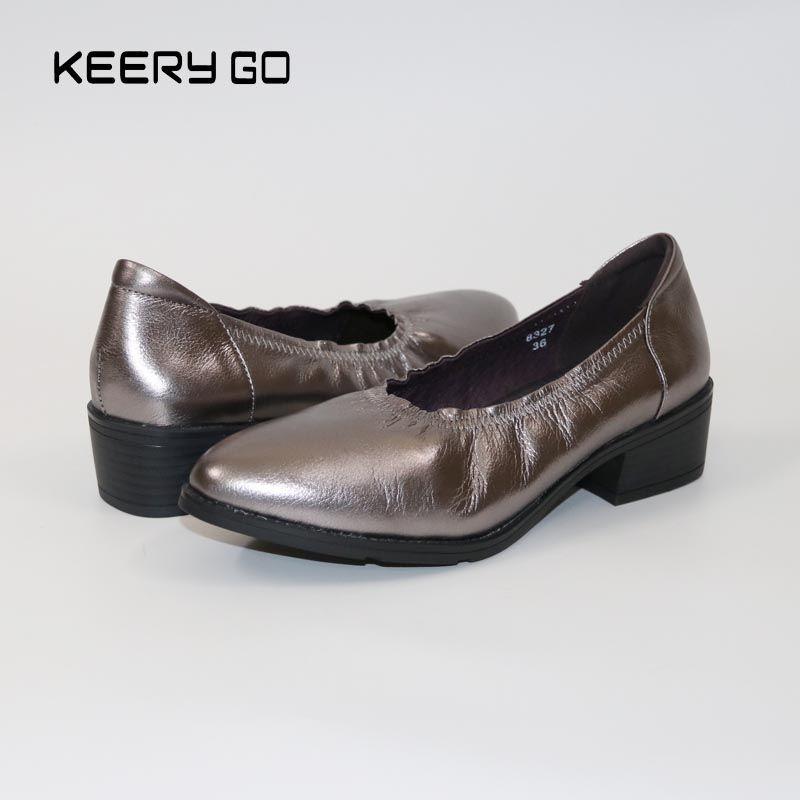 Chaussures à bout pointu en cuir de vachette