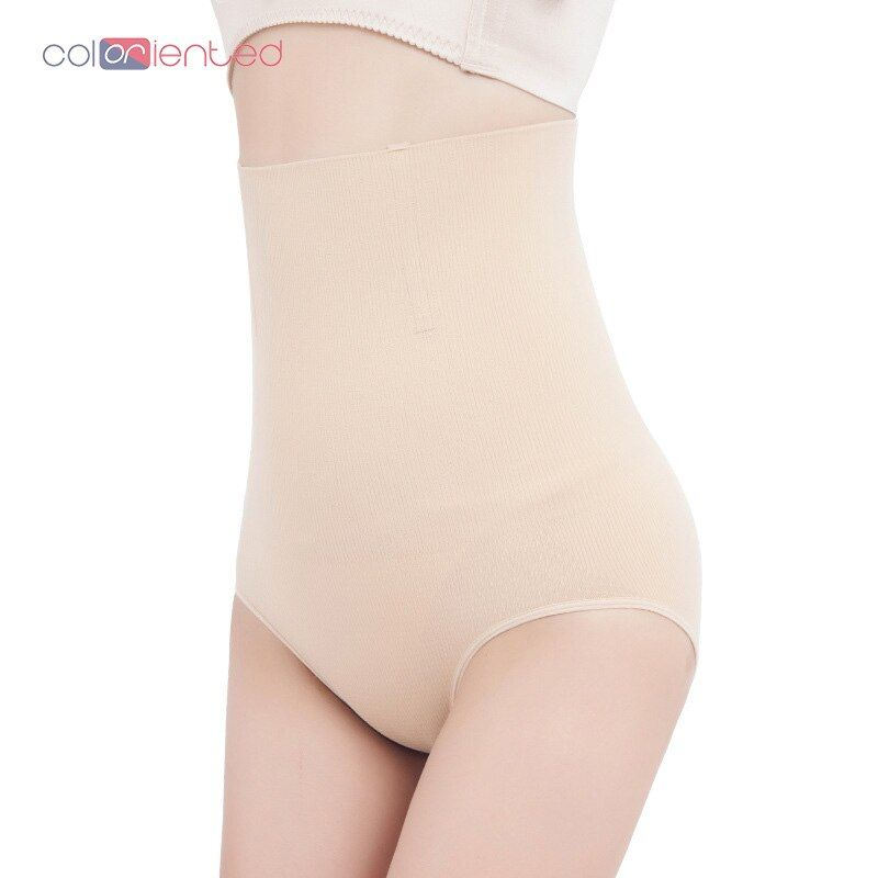COLORIENTED Women's High-Waist Postpartum Abdominal Pants Body-Building Pants Hip-Lifting Abdominal Underwear No Trace Waistband