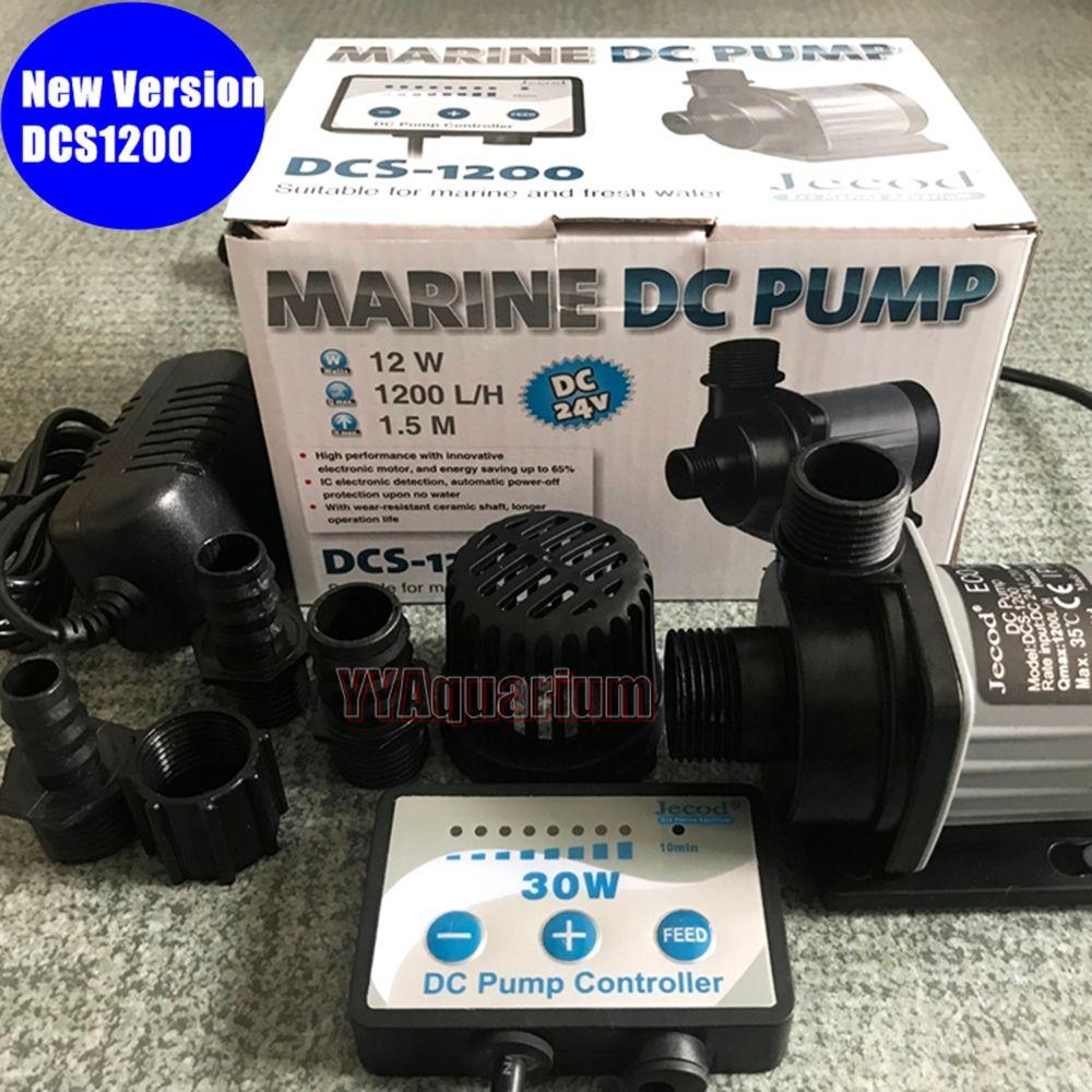 JEBAO Jecord DCS1200 pompe à eau SUBMERSIBLE avec contrôleur réglable poisson MARINE fontaine turbine DC pompe silencieuse 110-240 V 1200LH