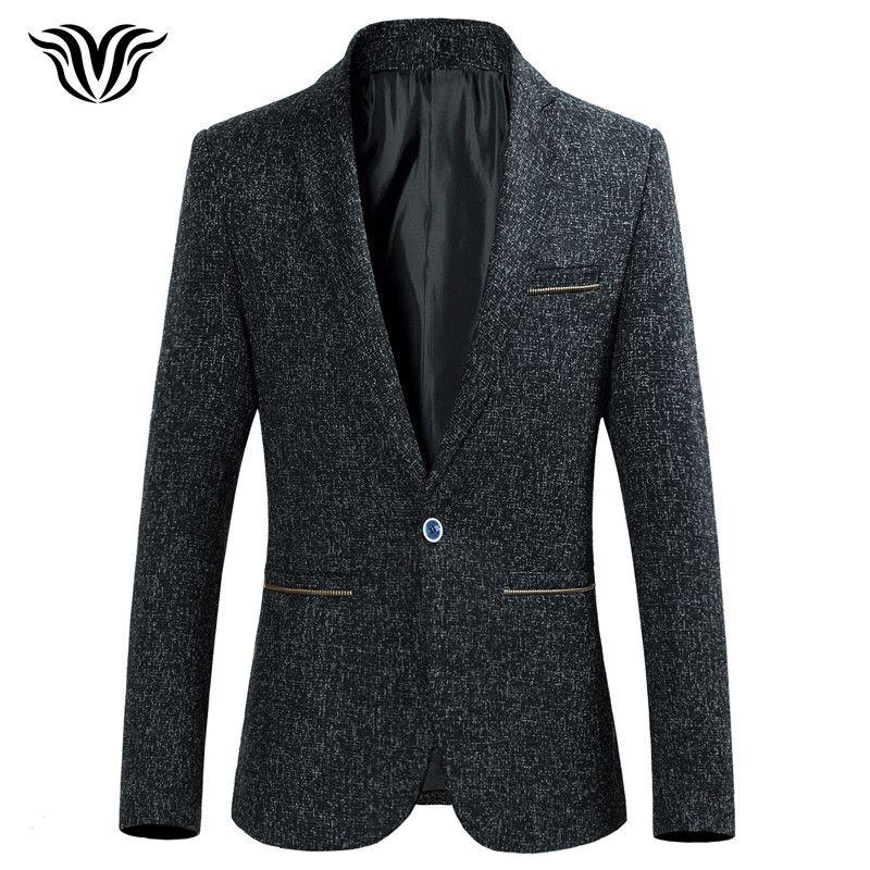 VORELOCE marca hombres traje chaqueta 2018 nueva primavera moda casual hebilla de gran tamaño traje negro amarillo azul