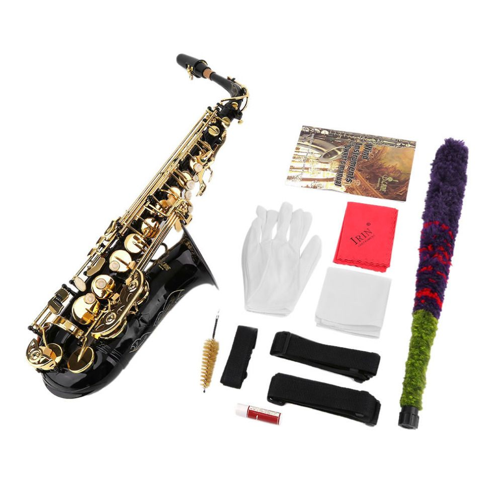 New Professional Eb Alto Saxophone Sax Set Personal Durable Bass Body Musical Instruments Eb Alto Saxophone Sax Kits Free Ship