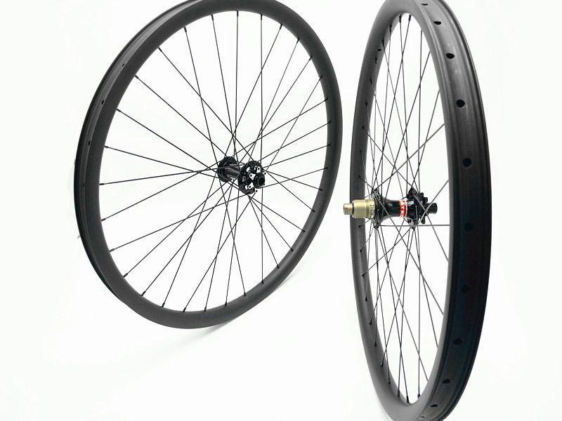 29er carbon mtb wheels 100X10mm 135X10mm 791 792 hubs MTB bicycles wheelset 27mm 30mm 35mm width wheel pillar 1423