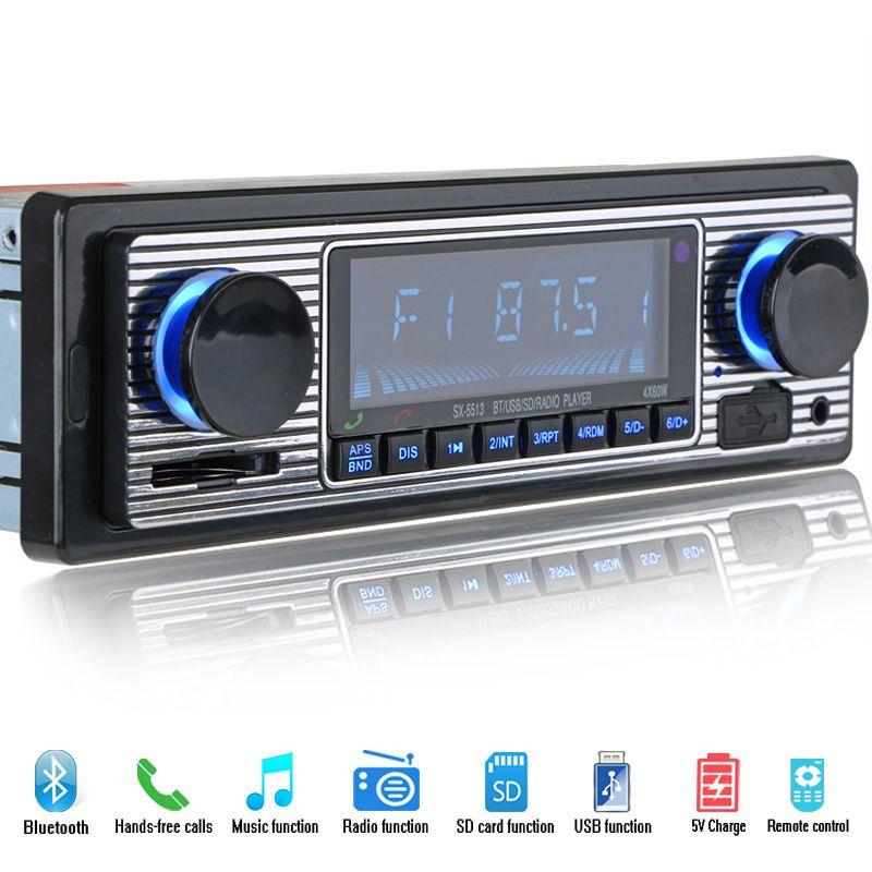 12 v Bluetooth Lecteur autoradio Stéréo FM MP3 USB SD Audio AUXILIAIRE Automatique Électronique autoradio 1 DIN oto teypleri radio par carro