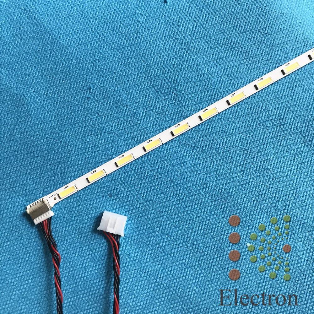 533mm placa de Aluminio de la Lámpara De Retroiluminación LED tira 44 led 44 V de 23.6 pulgadas LCD Monitor de Alta de luz con cable 4pin-6pin nueva