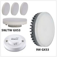 LED GX53 bombillas 5 W 7 W 9 W Downlight lámpara led super brillante smd2835 gx 53 AC 220 V 230 V 240 V blanco cálido blanco frío de luz