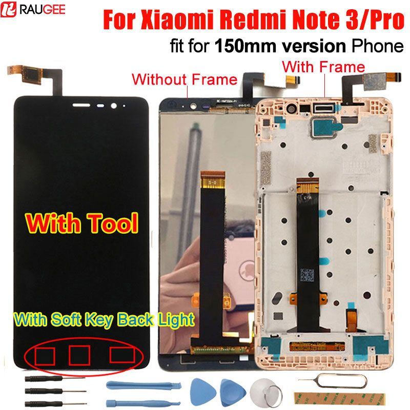 Xiaomi Redmi Note 3 Touch Screen LCD Display +Touch Panel 147mm <font><b>Digitizer</b></font> Accessory For Xiaomi Redmi Note 3 Pro Prime 150mm 5.5'