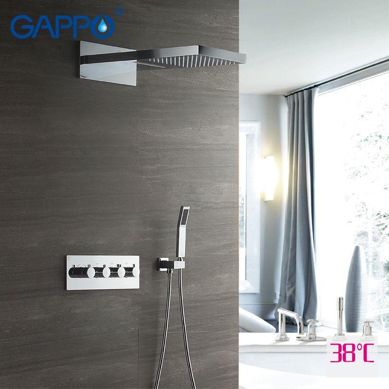 GAPPO dusche wasserhahn Badewanne wasserhähne dusche mischbatterie dusche kopf bad mischbatterie thermostat wasserhahn waschbecken sensor armaturen