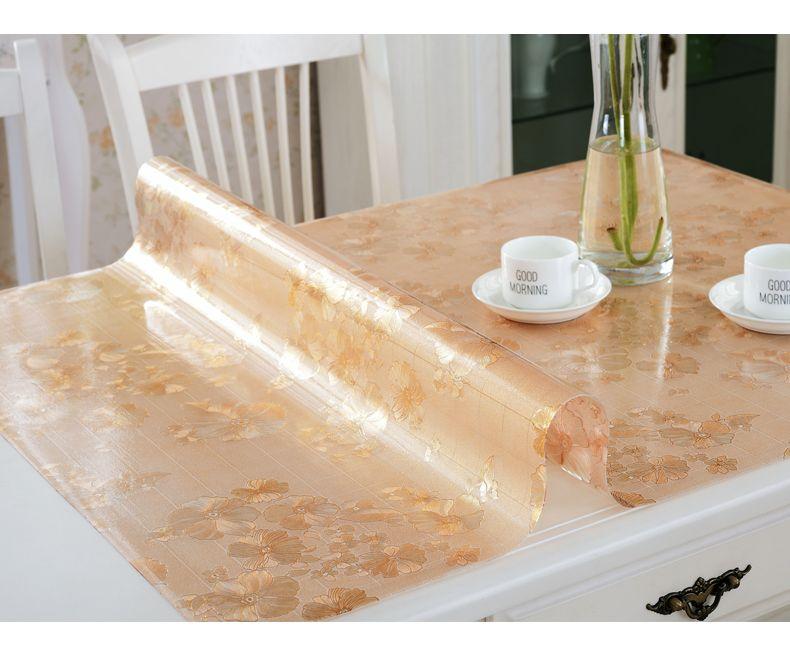 Nappe imperméable en PVC nappe en plastique souple en verre nappe de XiCha plusieurs plaques de cristal givré