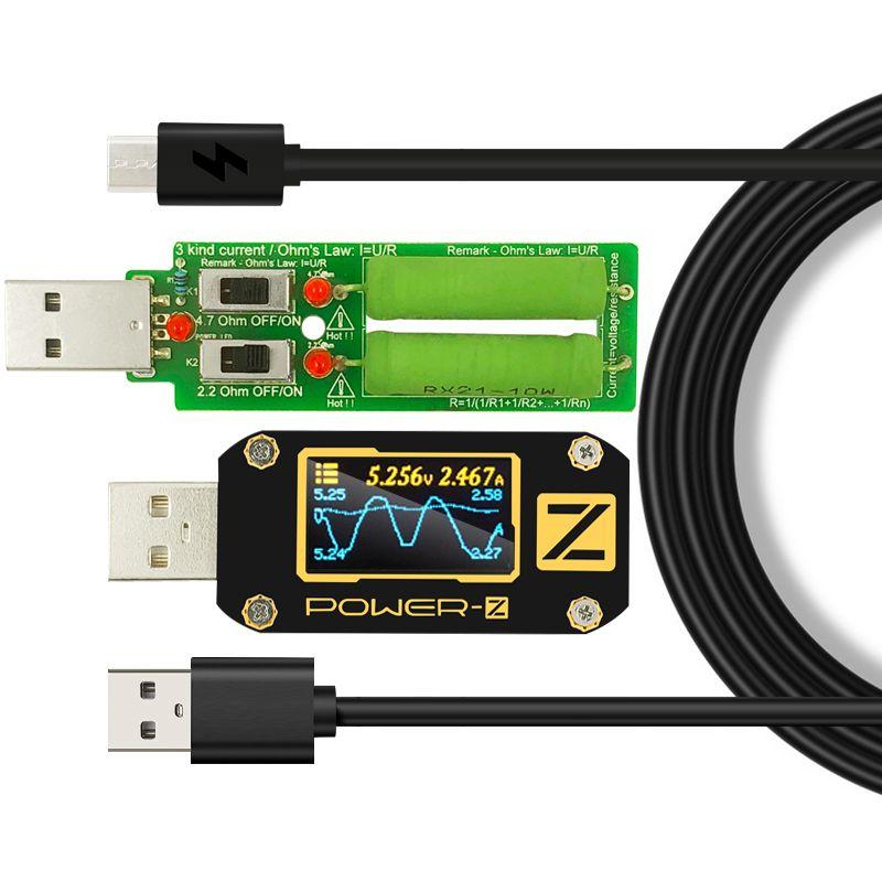 Testeur USB type-c QC2.0/3.0/PD voltmètre numérique amperimetro courant de tension ampère-z compteur détecteur de batterie externe