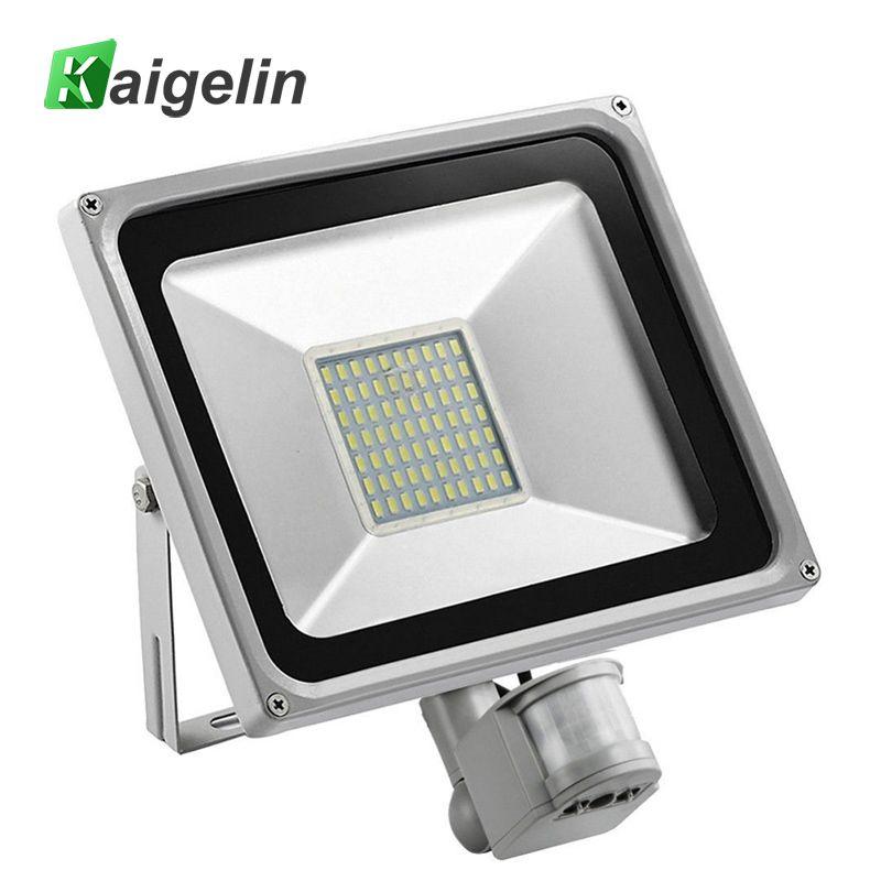 50 w PIR Infrarouge Motion Sensor Lumière D'inondation 220 v-240 v SMD 2835 5500LM PIR Capteur LED Projecteur LED Lampe Pour L'éclairage Extérieur