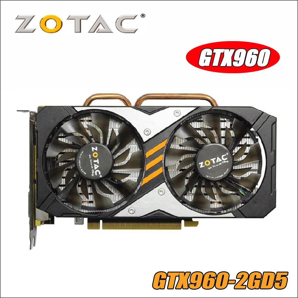ZOTAC Carte Vidéo GTX 960 2 gb 128Bit GDDR5 GM206 Cartes Graphiques GPU PCI-E Pour NVIDIA GeForce GTX960 2g 1050ti 750 1050 ti gtx750