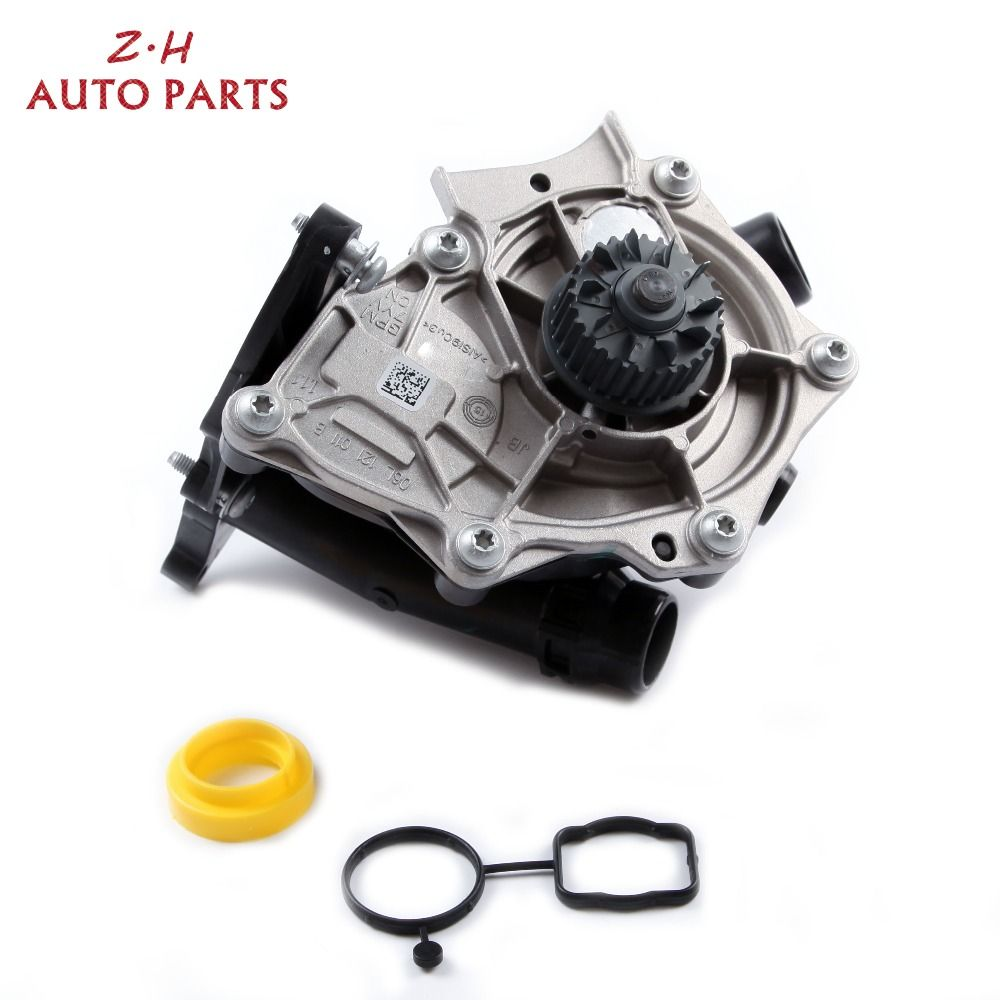 New Engine Coolant Thermostat Housing & Water Pump Assembly 06K 121 111 P For VW Volkswagen Passat Jetta Beetle EA888 1.8T 2.0T