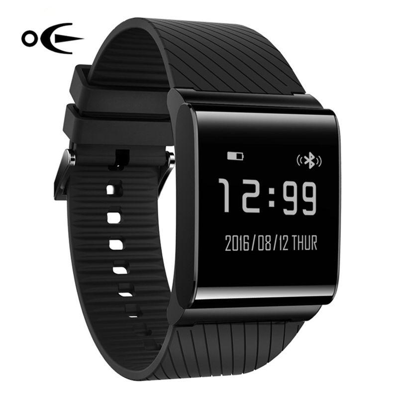 Sport Uhren Männer Uhren X9 Plus 2017 Schwarz Blutdruckmessung OLED Uhr Männer Herzfrequenz Smart Uhr Android & IOS Telefon