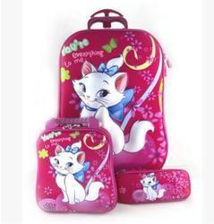 أطفال حقيبة سفر الأمتعة للفتيات الأطفال أكياس حقيبة مدرسية مع عجلات المتداول سفر الأمتعة حقيبة بعجلات