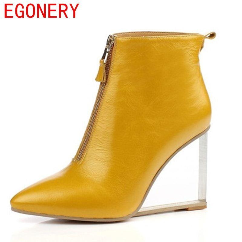 EGONERY partie sexy femme chaussures grande taille 33-41 cheville bottes talon 9 cm bout pointu cristal talon équitation bottes zapatos mujer