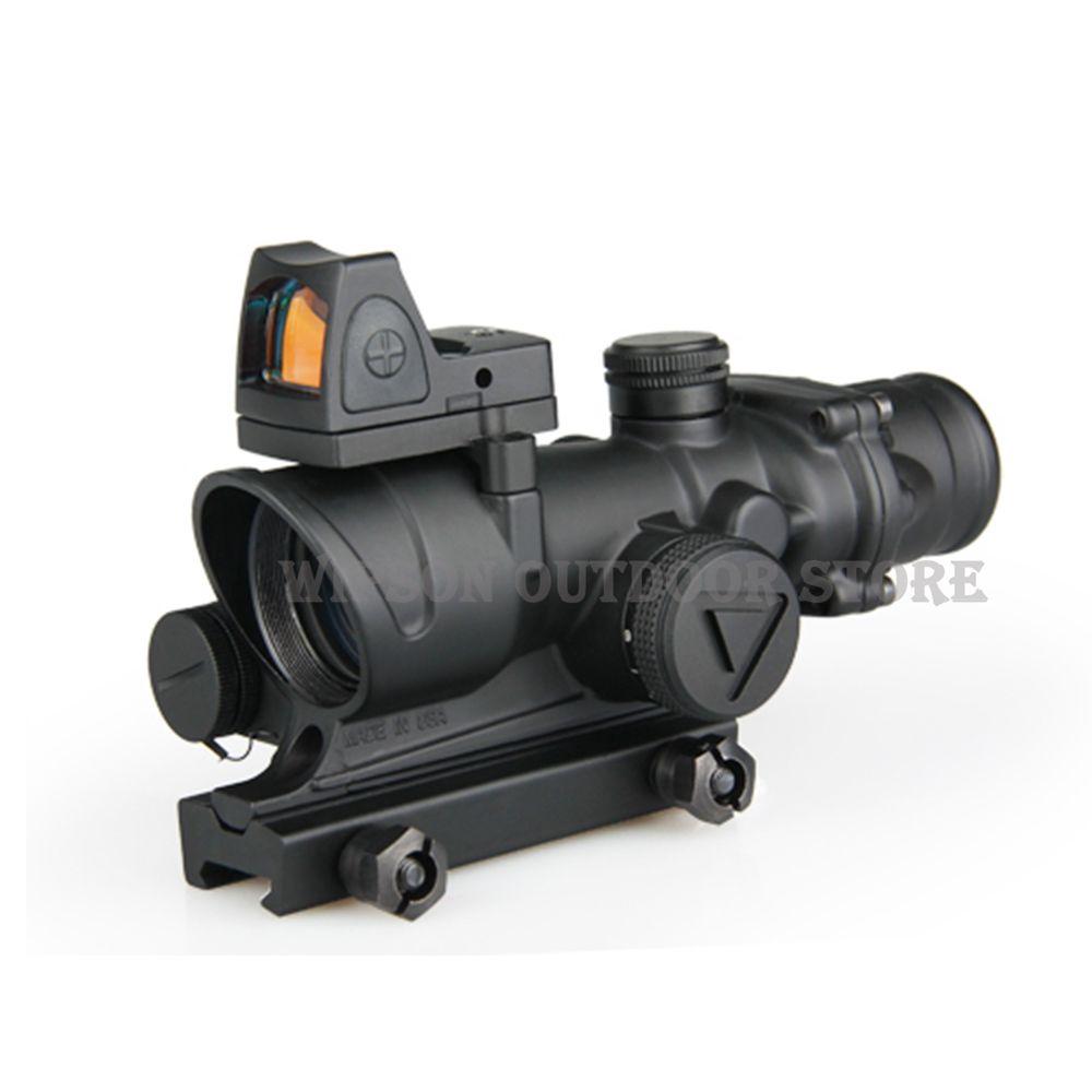 WIPSON Tactical Trijicon ACOG 4x32 FÜHRTE Umfang HD Anblick Geltungsbereich Illuminated Zielfernrohr Mit Reflex Einstellbar Min Red Dot anblick