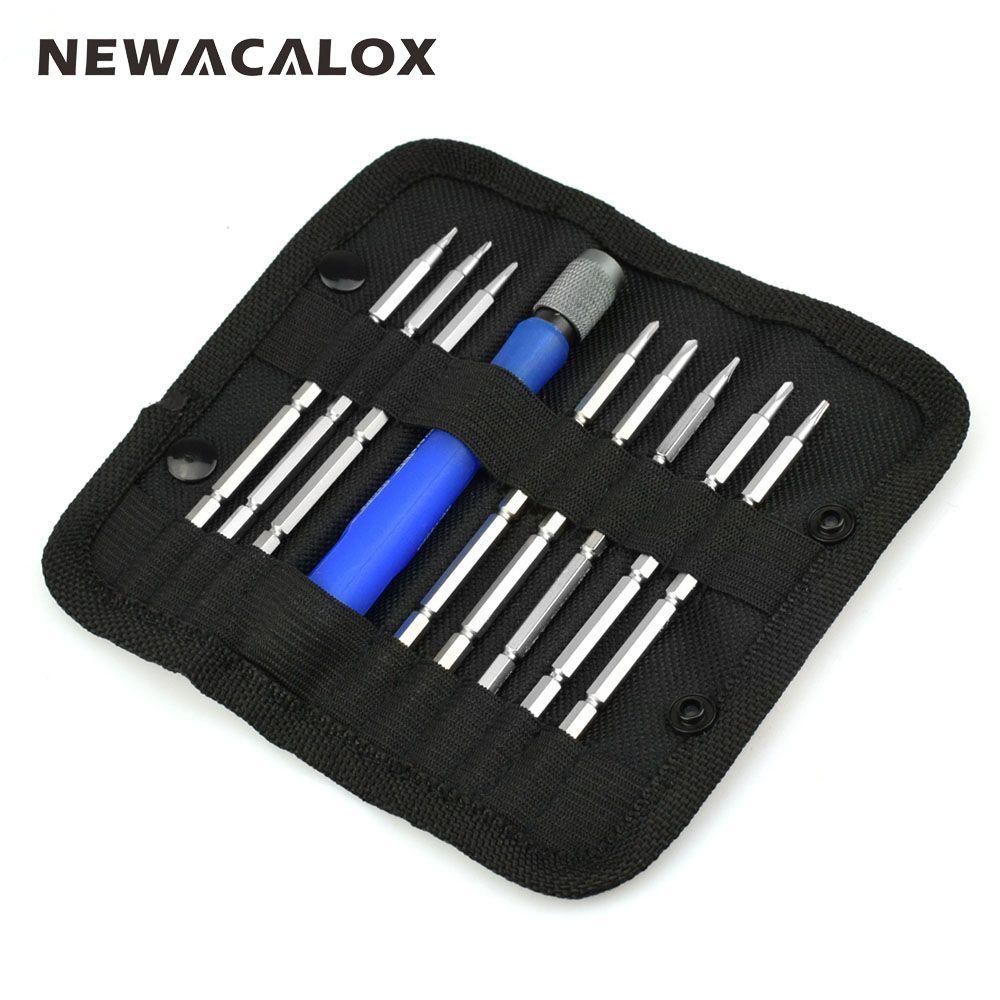 NEWACALOX ordinateur portable et téléphone portable outils de réparation 9 en 1 tournevis magnétique tournevis de précision ensemble d'outils Torx Hex