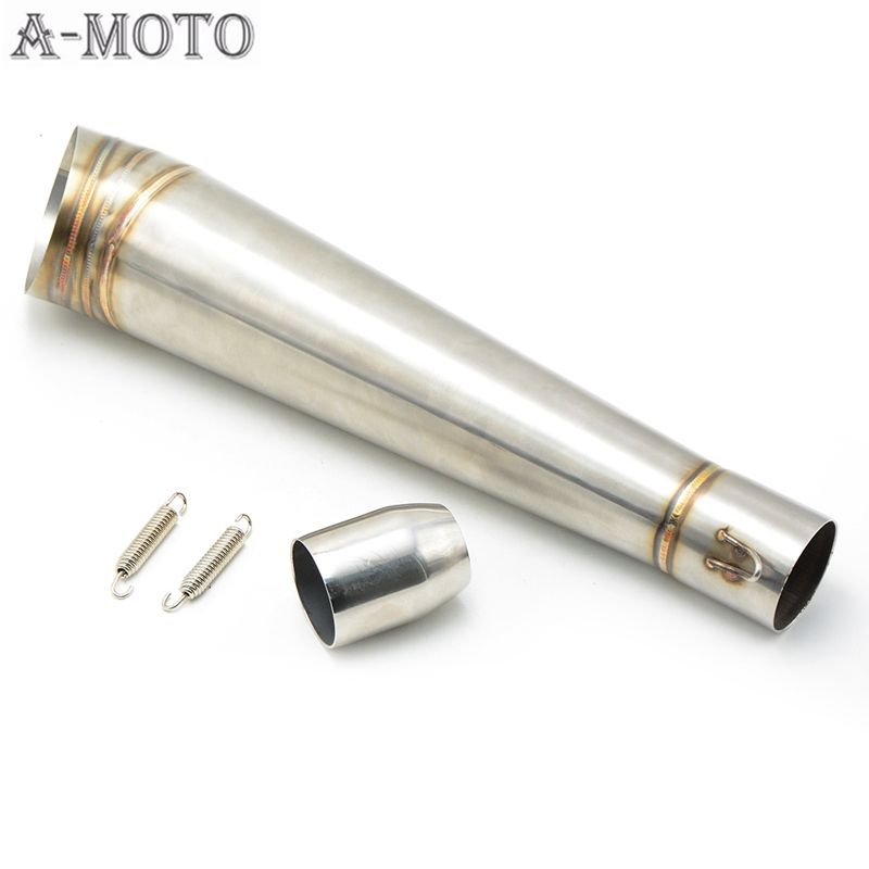 Exhaust muffler pipe 38 52mmScooter Muffler pipe Motorcycle accessories  Exhaust Pipe For Kawasaki ZX-6R 2005-2012