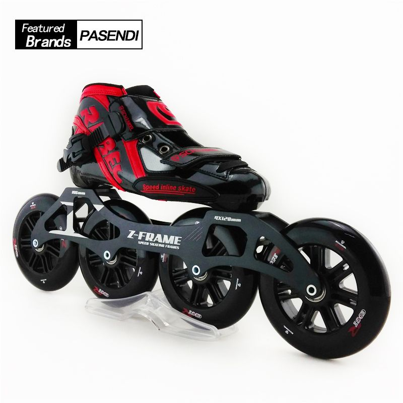 Adults Speed Skating High Quality Artistic Professional Roller Skating Shoes Slalom Skates Inline Single-row Skating Shoes