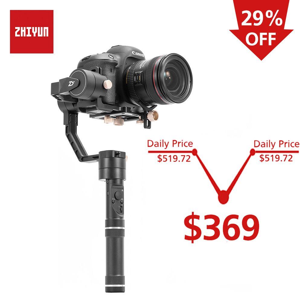 ZHIYUN Offizielle Kran Plus 3-Achse Handheld Gimbal Stabilisator für Spiegellose DSLR Kamera für Sony A7/Panasonic LUMIX /Nikon J/Cano