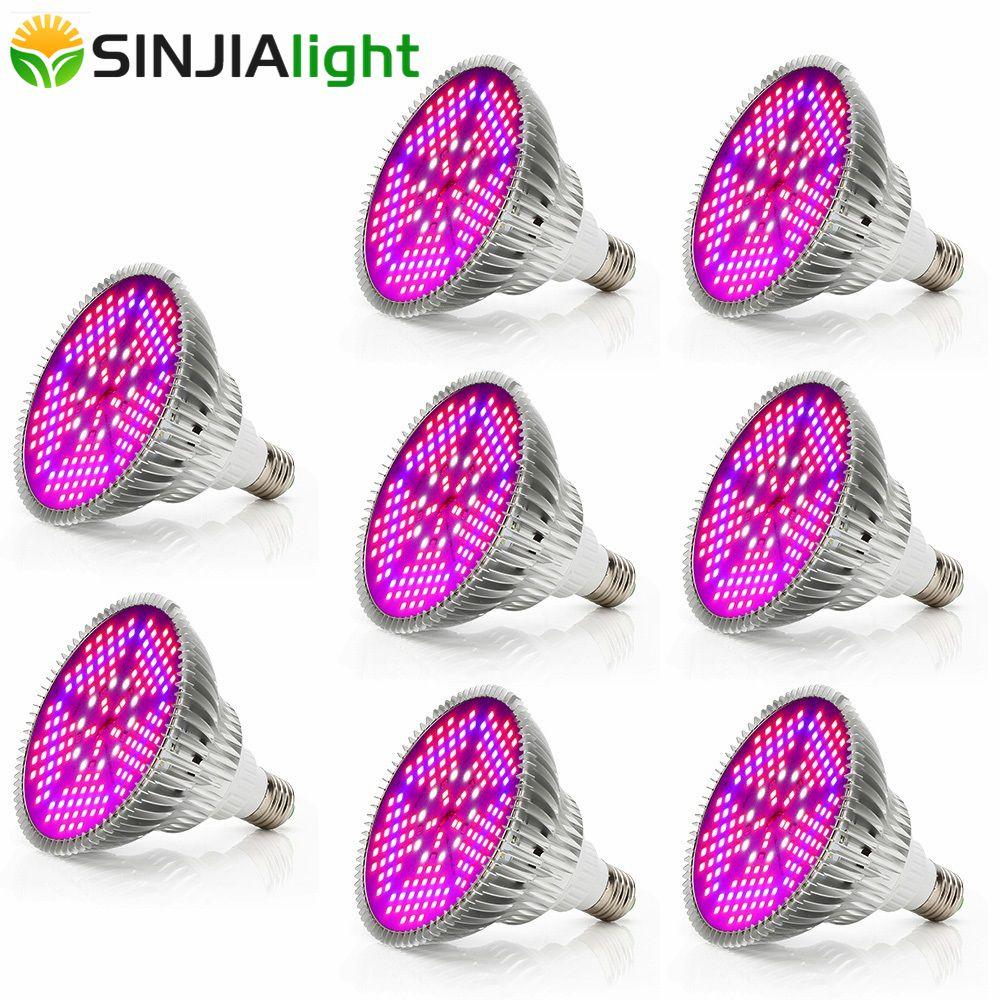 8pcs 100W LED Grow Lights Full Spectrum 150LEDs Plant Lamp Bulbs for Plants Aquarium Hydroponics Flowers Garden Vegs Greenhouse