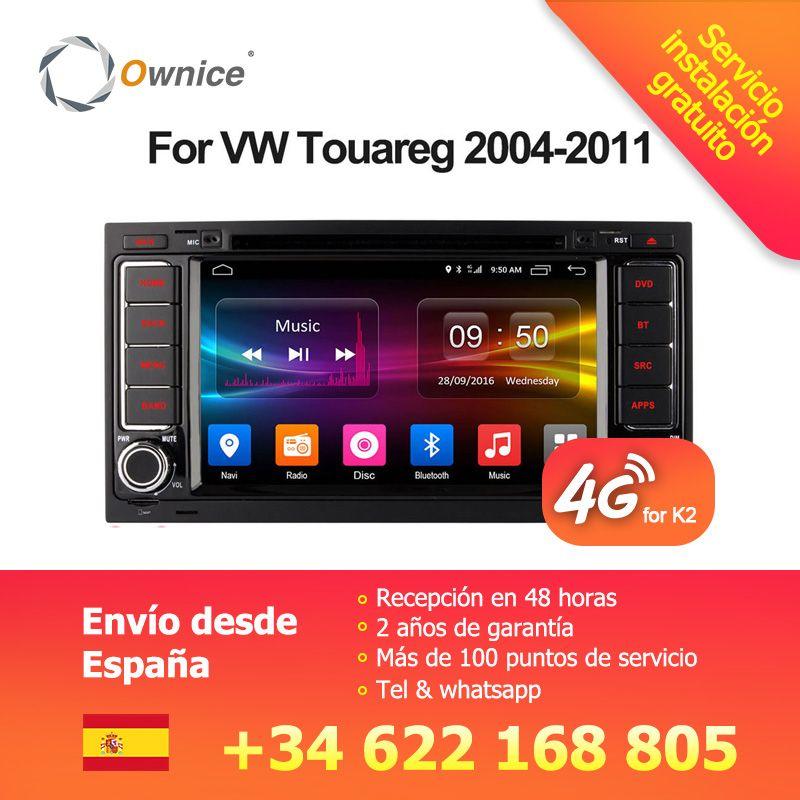 Ownice Android 6.0 4G SIM LTE Octa Core 2G RAM Car DVD GPS Radio for Volkswagen Touareg T5 Transporter Multivan 2005-2011 Stereo