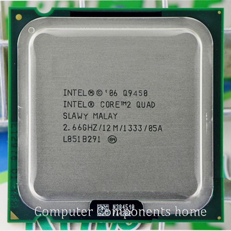 Processeur d'unité centrale intel core 2 quad Q9450 avec décalage de prise 775 (2.66 Ghz/12 M/1333 GHz)