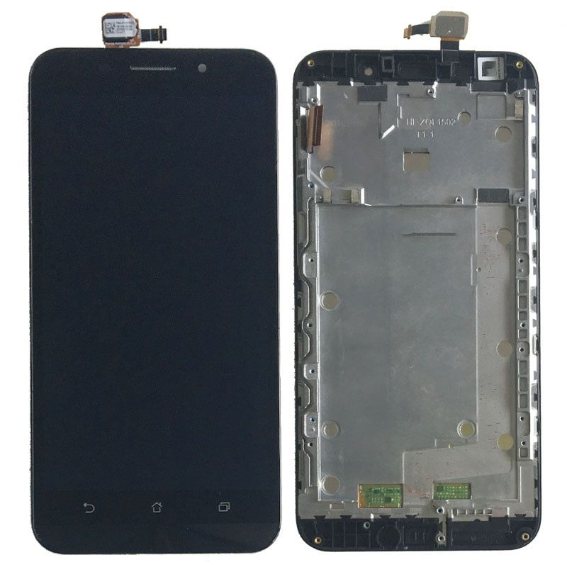 Black LCD Display Glass Touch Screen Digitizer Assembly+Frame For Asus ZenFone Max ZC550KL NEW