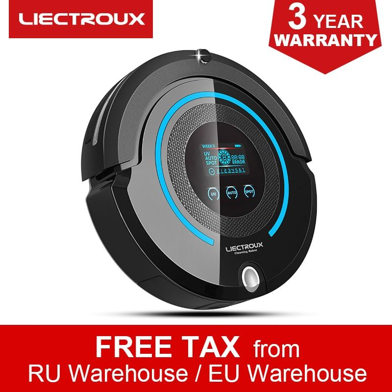 Liectroux A338 Multifunctional Automatic Robot Vacuum Cleaner (Sweep,Vacuum,Mop,Sterilize),Schedule,Virtual Blocker,Self Charge,