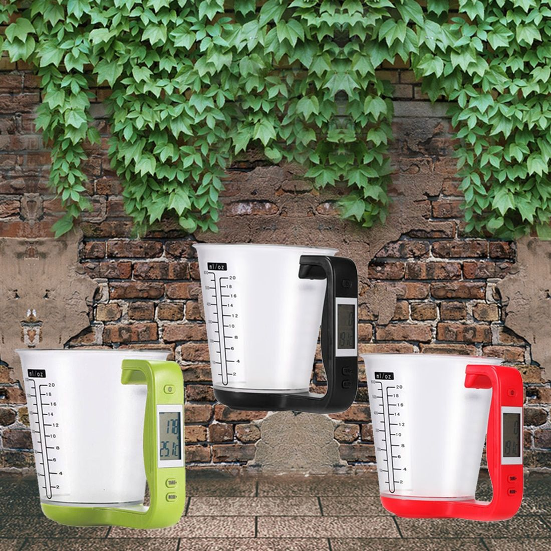 1Pcs Digital kitchen Electronic Measuring Cup Scale Household Jug Scales with LCD Display Temp Measurement 16x12.5x13.5cm