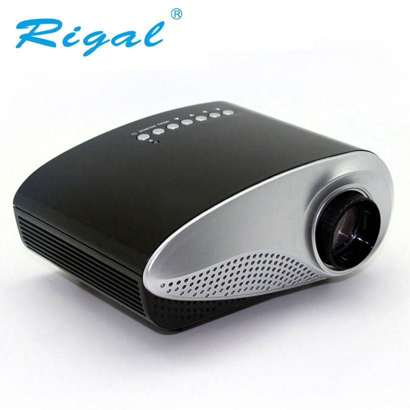 Rigal RD802 Portable Mini Projector Home Theater LED LCD Beamer USB/VGA/HDMI Child Cartoon Video Cinema Movie Projector RD-802