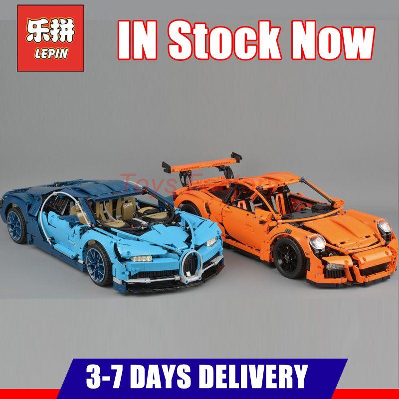 2018 DHL LEPIN 20001 20001B 20086 20086B Technic Sports Race Car Model Building Kits Blocks Bricks Toy Compatible 42083 42056