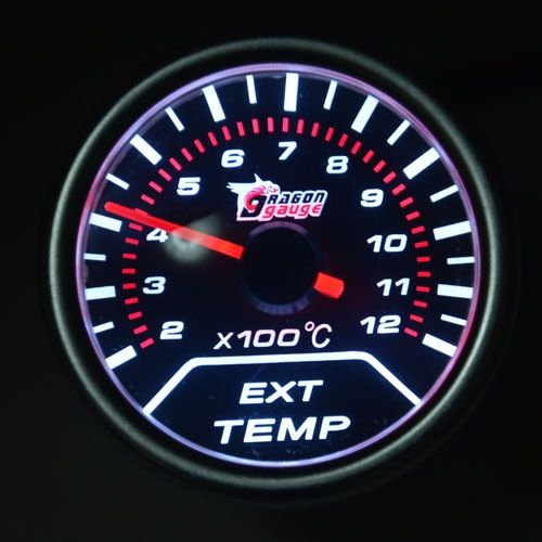 52mm Ext temp gauge Pointer Car Exhaust Gas Temperature EGT Gauge For Motorcycle And Car Exhaust Temperature MeterFree shipping